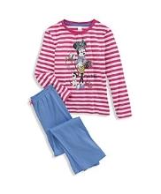 Afbeelding WALT DISNEY GIRLS Pyjama wit/fuchsiarood