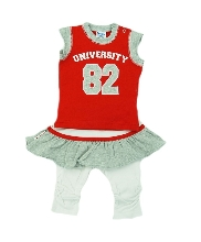Afbeelding Dirkje 3 pce babysuit University Red 31BW-08544
