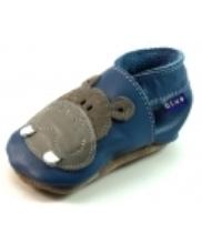Afbeelding Inch Blue babyslofjes online Hippo Blauw INC05